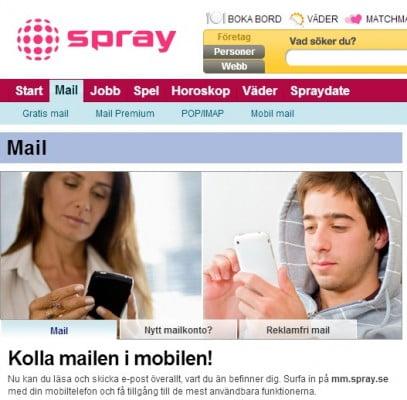 Spray mail mobil